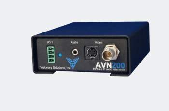 AVN200 - MPEG-2 SD Video/Audio Encoder with Composite and S-Video inputs and IP output